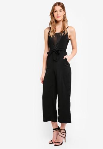Preen & Proper black Cami Jumpsuit With Self Belt AB0A5AAE71F3CCGS_1