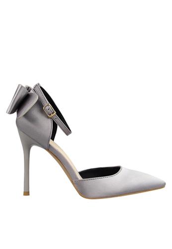 Twenty Eight Shoes 銀色 雙蝴蝶結晚裝及新娘鞋 VP51961 E418BSHD87399AGS_1
