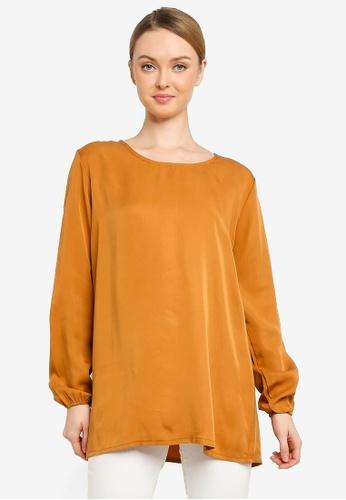 Zariya brown Blouse & Tunics A4283AA1424AF5GS_1