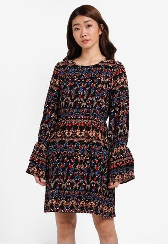 Vero Moda black VMMOLLY L/S WRINCLE SHORT DRESS VE975AA0S5RKMY_1