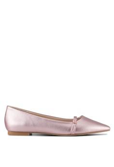 aaf5d344b4d Velvet pink Buckle Ballet Flat Shoes 8E311SH6A676C0GS 1