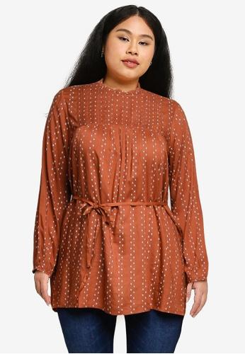 Vero Moda orange Plus Size Rili Tunic C3AD8AAA613429GS_1