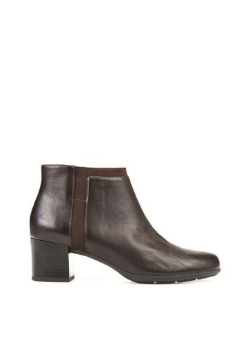Geox brown Annya Mid Ankle Boots EA09FSH7A3FAD3GS_1