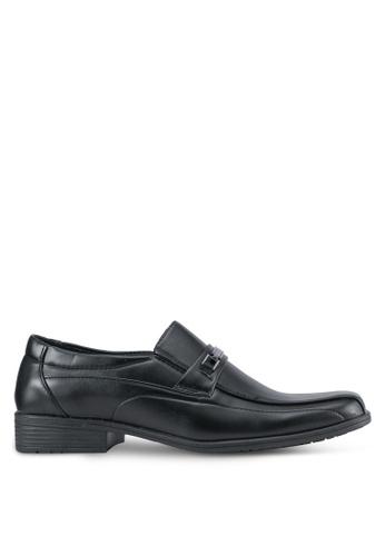 Rocklander black Slip On Dress Shoes RO978SH0SMM4MY_1