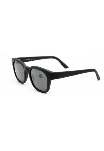 Sensolatino Eyewear Sensolatino Eyewear Made In Italy Mod. Alessandri Matte Black Frame With Black Lenses FABD3GL08AB99FGS_1