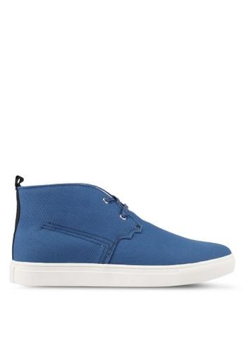 JAXON blue Canvas High Top Sneakers AA1F7SH0C3F987GS_1