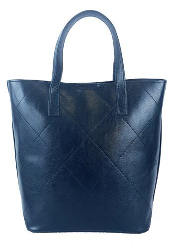 BELLE LIZ black Plaid Design Stylish PU Ladies Crossbody Bag Black 4FBA4AC7630D94GS_1