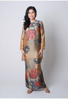 Ibu By Jovian Surya Modern Baju Kurung Top In Beige Cream