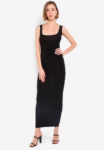 f1d4af8c5c3b8 Buy Boohoo Slinky Square Neck Maxi Dress Online on ZALORA Singapore