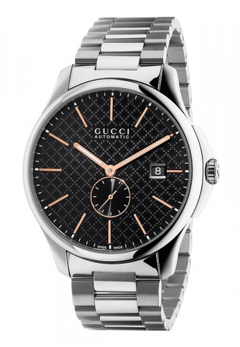 Gucci black and silver GUCCI Timeless Black Dial Stainless Steel Men's Watch 77CA9ACCDC2E7BGS_1