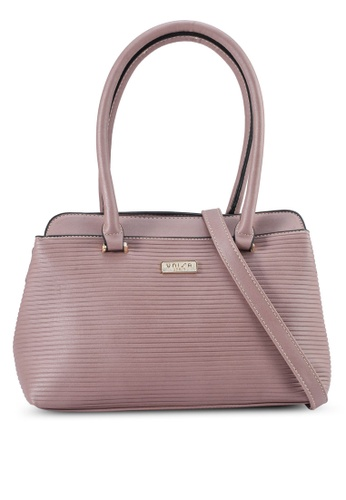 Unisa purple Debossed Convertible Shoulder Bag DE36DAC0666428GS_1