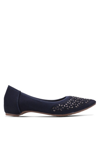 Spiffy blue and navy Sequin Embroiered Flats SP352SH0S6DZMY_1