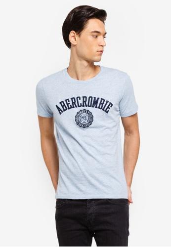 Abercrombie & Fitch 藍色 LOGO刺繡T恤 38726AA9AEBF46GS_1