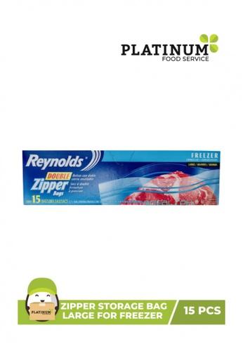 Reynolds blue Zipper Storage Bag Large For Freezer (15PCS) 184FFHL051B763GS_1