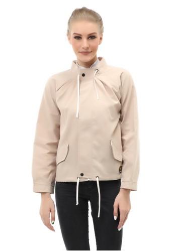 Hamlin brown Hardwin Jacket Outer Wanita Fashionable Material Baby Canvas ORIGINAL - Cream 71BD8AA8EC68F5GS_1