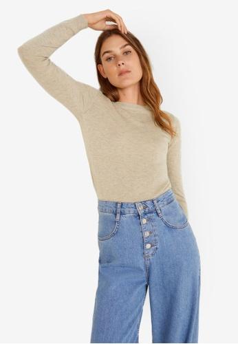 Mango grey Bead Sweater 07ACFAA71EEDB6GS_1