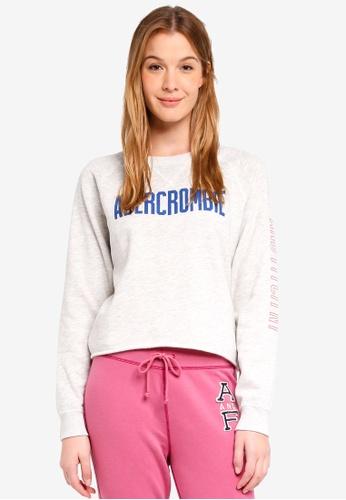 Abercrombie & Fitch grey Seasonal Logo Crew Sweatshirt A13C6AA41EB37AGS_1