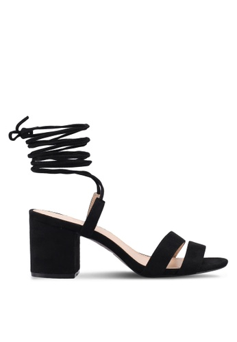 Public Desire black Virgo Strappy Lace Up Heeled Sandals 4A30ESH76DDE01GS_1