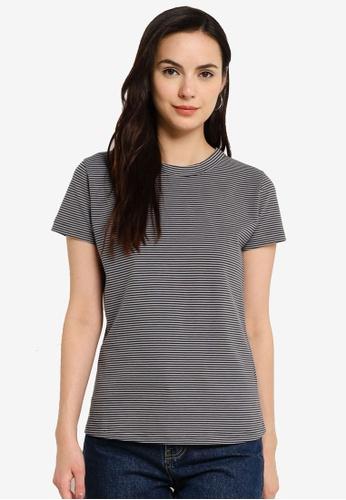 UniqTee grey Petite Stripe T-Shirt DA135AA34F57F2GS_1