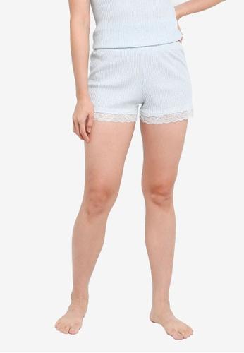 KOTON blue Casual Shorts AC045AA7B2E7F2GS_1