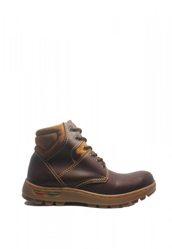 Cut Engineer brown Cut Engineer Safety Boots Iron Earth Leather Dark Brown CD240SH7A9630AGS_1