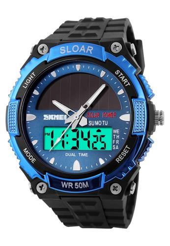 Digitec blue Skmei - Jam Tangan Pria - Black Blue - Resin Strap - 1049-C 02AB1AC0E78D83GS_1