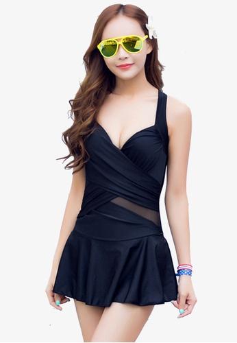 Halo black Simple Black Swimsuits Bikini HA405US0FTS8SG_1