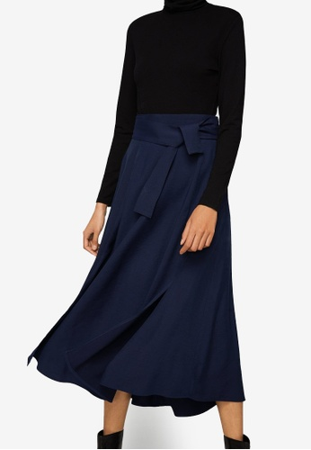 Mango blue Belt Long Skirt 5141EAA646CA41GS_1