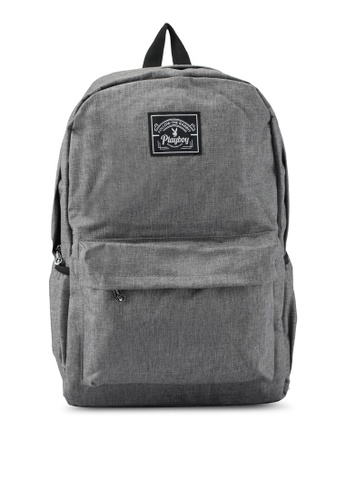 Playboy grey Playboy Casual Backpack PL371AC0SK0CMY_1