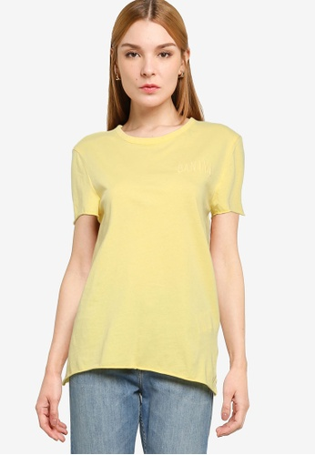 ONLY yellow Fruity Short Sleeve Tee CE637AA6F8CC57GS_1