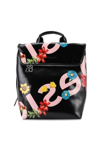 Desigual black Graphic Logo Backpack 08E6CAC981C303GS_1
