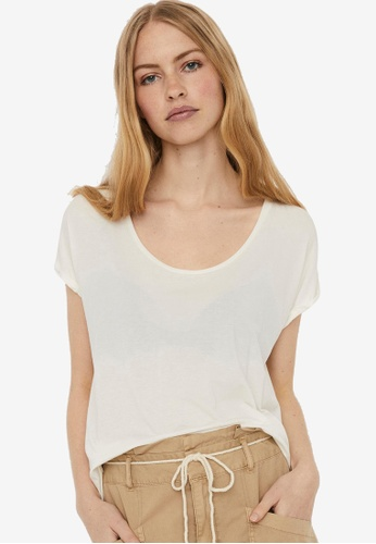 Vero Moda white Short Sleeve Top 02FB0AA7790733GS_1