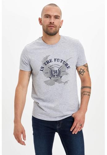 DeFacto grey Man Knitted T-Shirt 04D6BAAFFFC355GS_1