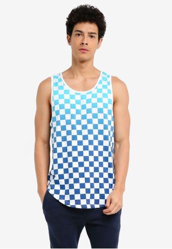 Hollister blue MH Wash FX Tank T-Shirt 57AF3AAD1ACB4EGS_1