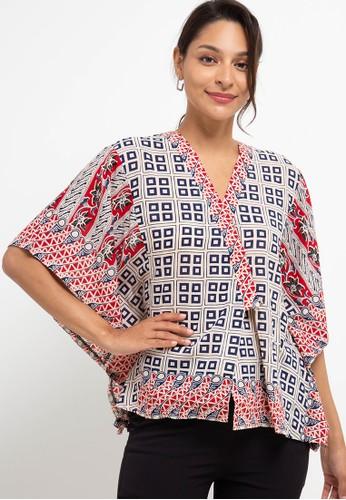 bhatara batik red and beige Leona Blouse BADF6AA90CD62BGS_1