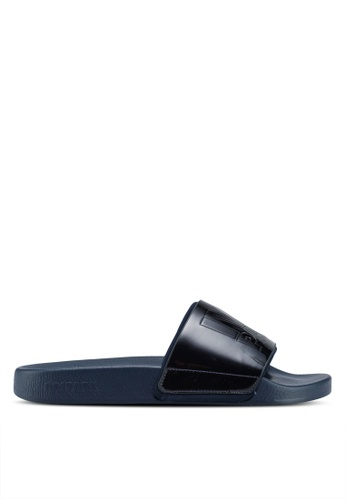 Ivy Park blue and navy Metallic Sliders 64629SH249E3E8GS_1