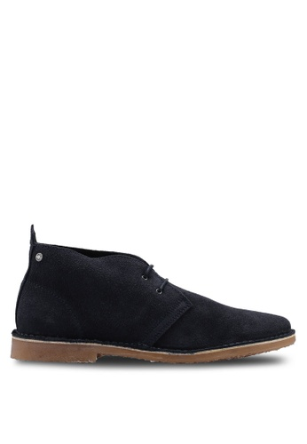 Jack & Jones navy Gobi Suede Boots 13770SHB1C4265GS_1