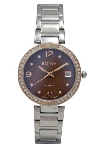 Bonia silver Bonia Jam Tangan Wanita - Silver Rosegold Brown - Stainless Steel - BNR112-2345S A867EAC5390BECGS_1