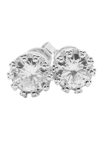 Elfi silver Elfi 925 Sterling Silver Royal Crown Fashion Earring SE63 EL186AC0RWR0MY_1
