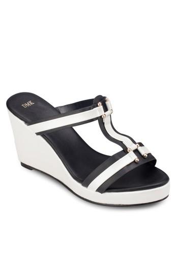 工字esprit女裝帶楔型涼鞋, 女鞋, 鞋