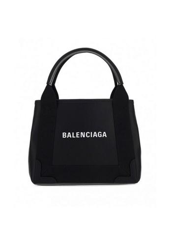 Balenciaga black Balenciaga Navy Cabas XS Shoulder Bag in Black 091C3AC2D17E2EGS_1