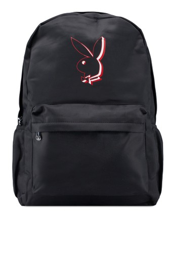Playboy black Printed Backpack 572C3AC4FFD70FGS_1