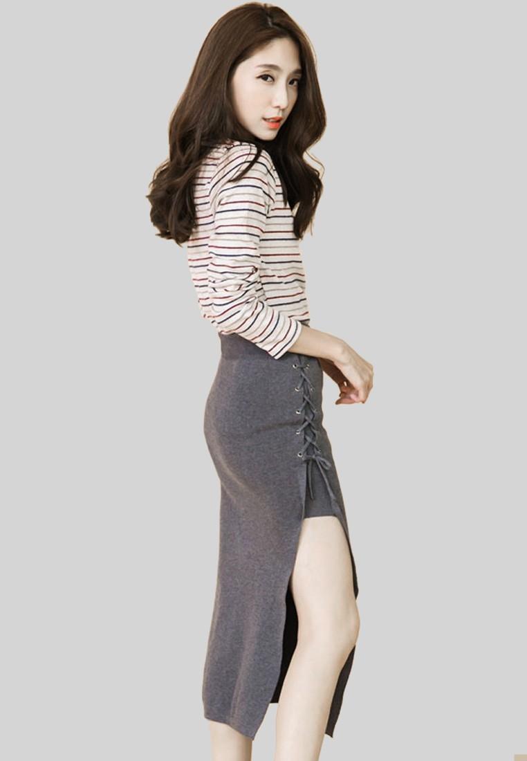 Sexy Allure Drawstring Skirt