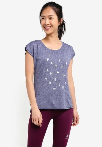Odlo blue Helle Short Sleeve T-Shirt OD608AA0S13IMY_1