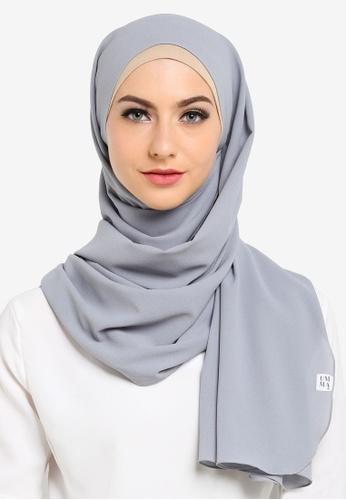 UMMA grey Fatima Basic Scarf 39F70AAE64BC72GS_1