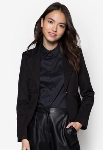 單鈕假層次西裝外套, 服飾, 夾克 &amesprit門市p; 大衣