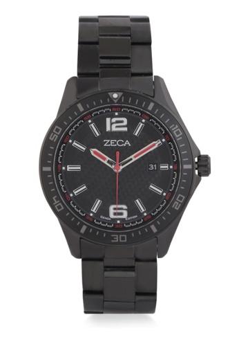 ZECA black Zeca Watches Men Fashion Stainless Steel Analog - 2014MA Black CFA3BACB691D36GS_1