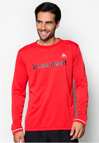 Le Coq Sportif red Round Neck Long Sleeve Tee LE751SE20TADMY_1