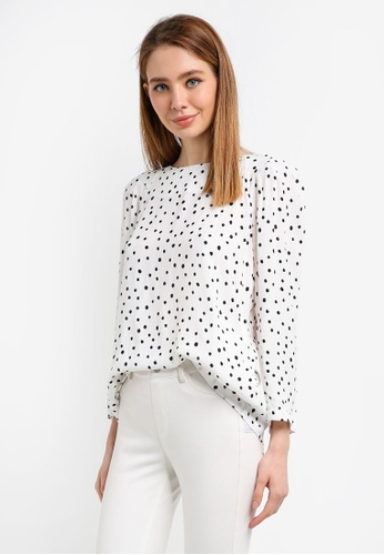 ESPRIT white Woven Long Sleeve Blouse C38A4AAFEE355BGS_1