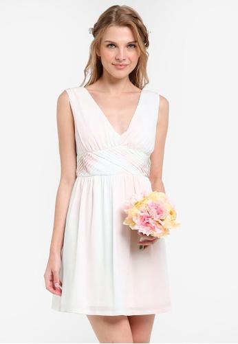 ZALORA multi Bridesmaid Cross Front Mini Dress 27DFDAA40F4C01GS_1